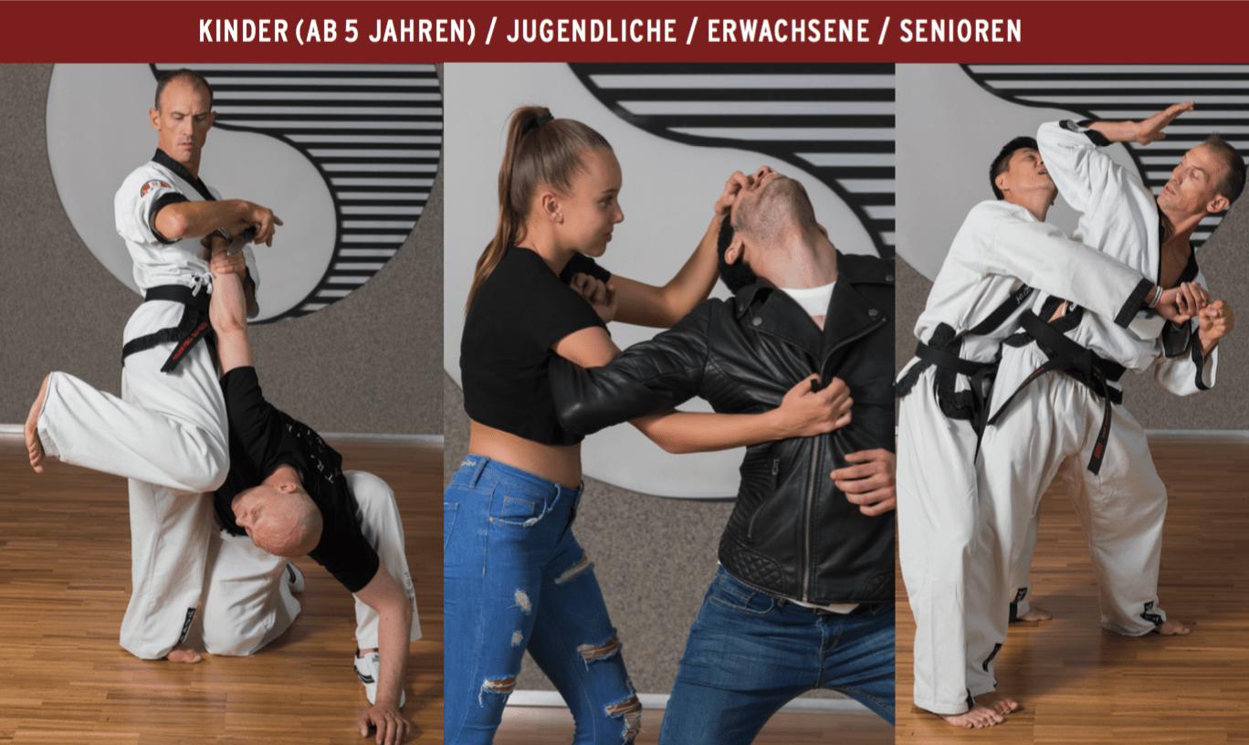 Selbstschutz, YOUNG-UNG Taekwondo,Verteidigung, Arek