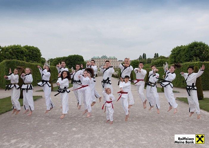 YOUNG-UNG Taekwondo, Fotoshooting, Raiffeisen,Aktion