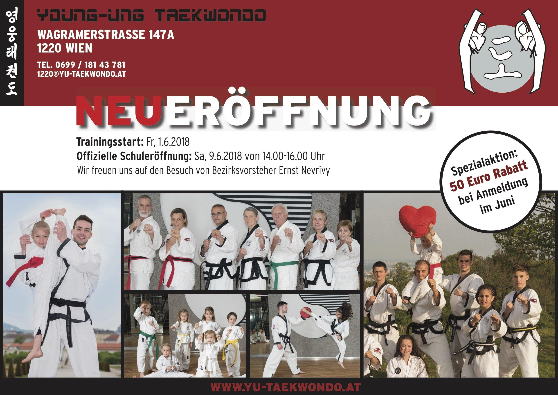 YOUNG-UNG Taekwondo Kampfsport Neueröffnung Trainingsstart Donaustadt