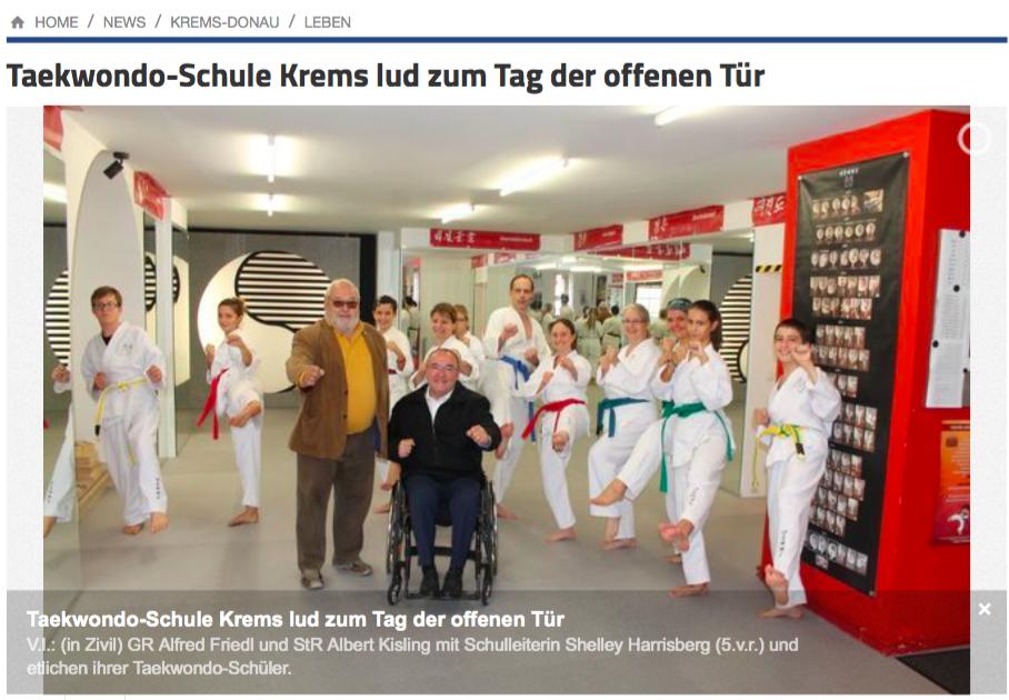 Tag der offenen Türe Krems YOUNG-UNG Taekwondo Sportstadtrat Kisling