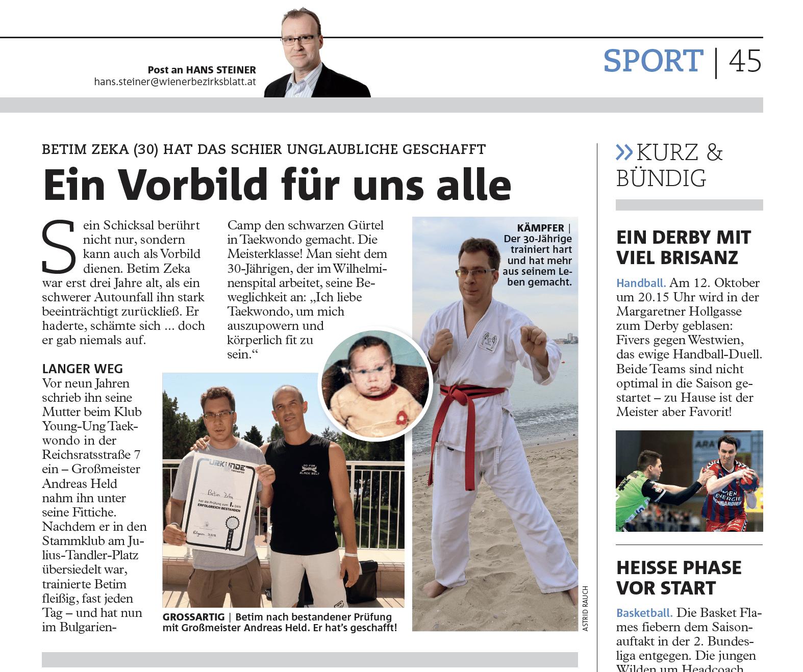 Betim Zeka Vorbild YOUNG-UNG Taekwondo