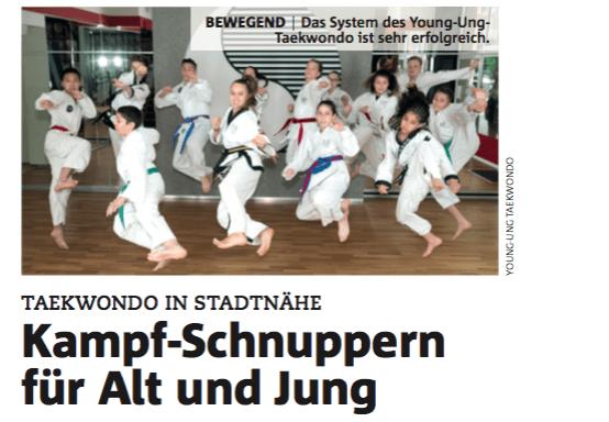 YOUNG-UNG Taekwondo Bezirksblatt Süd