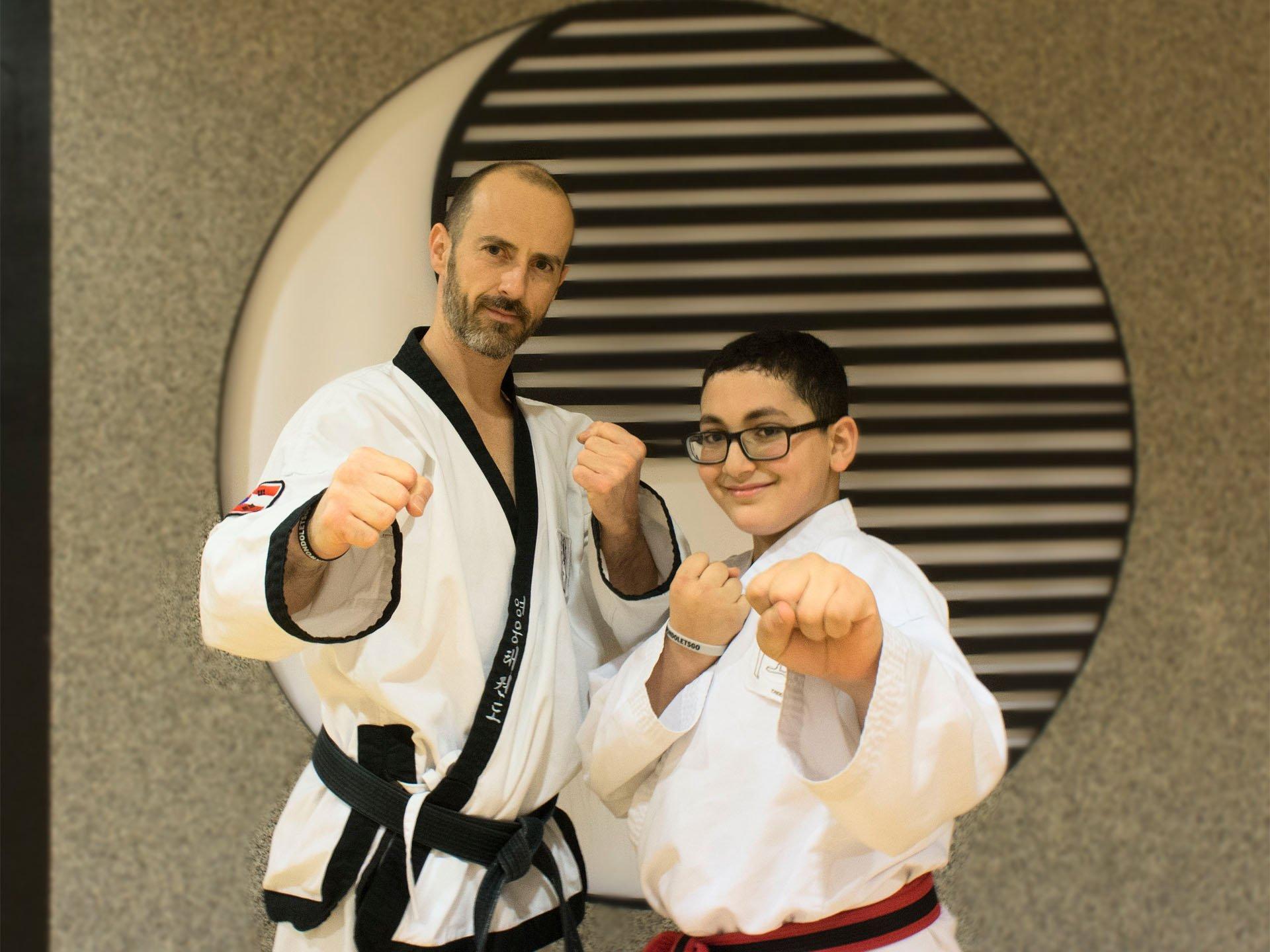YOUNG-UNG Taekwondo Schüler des Monats Joseph Sayed Sandro Stückler
