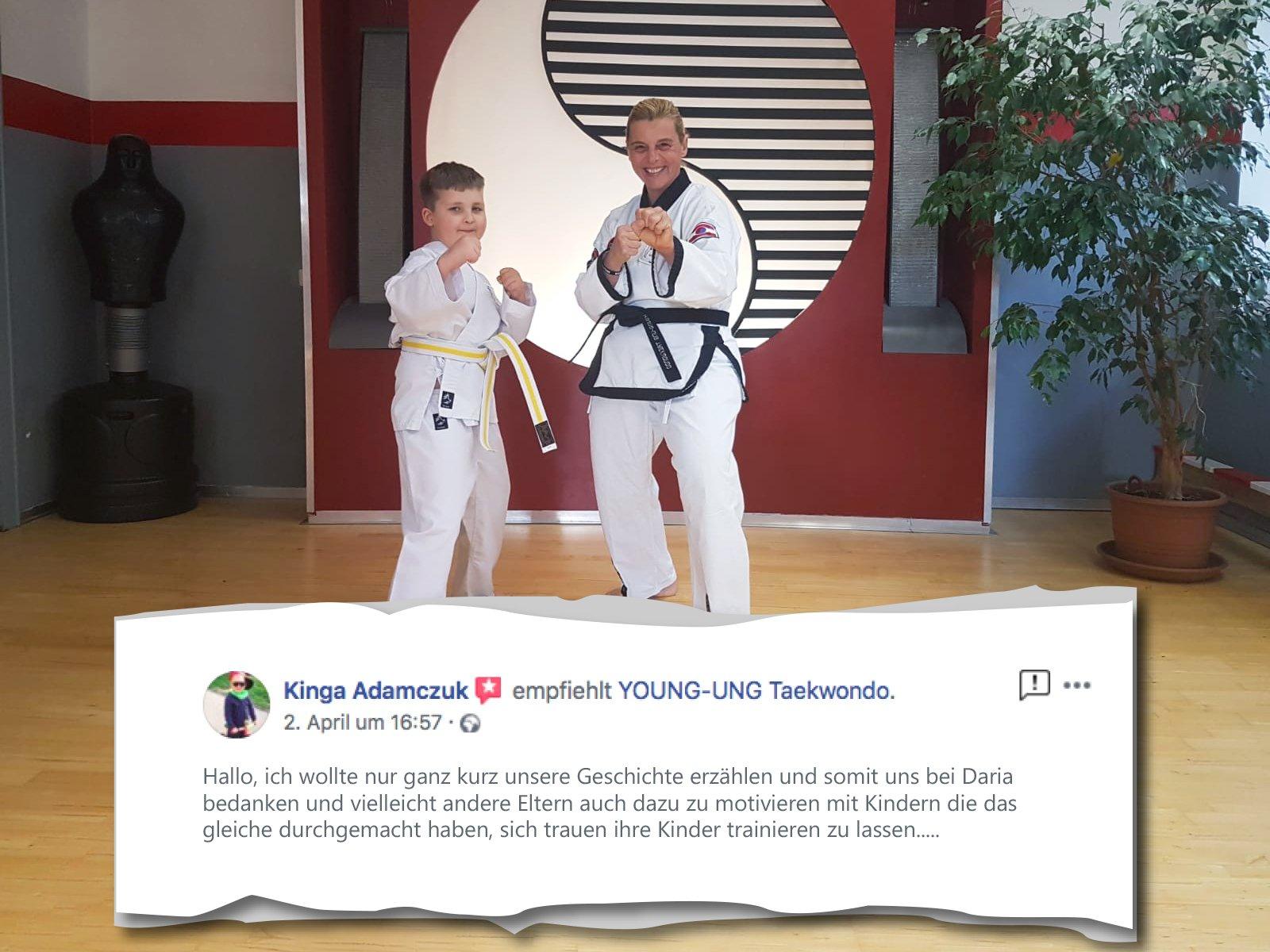 YOUNG-UNG Taekwondo Kampfsport Training Bewertung Lob Kritik Empfehlung