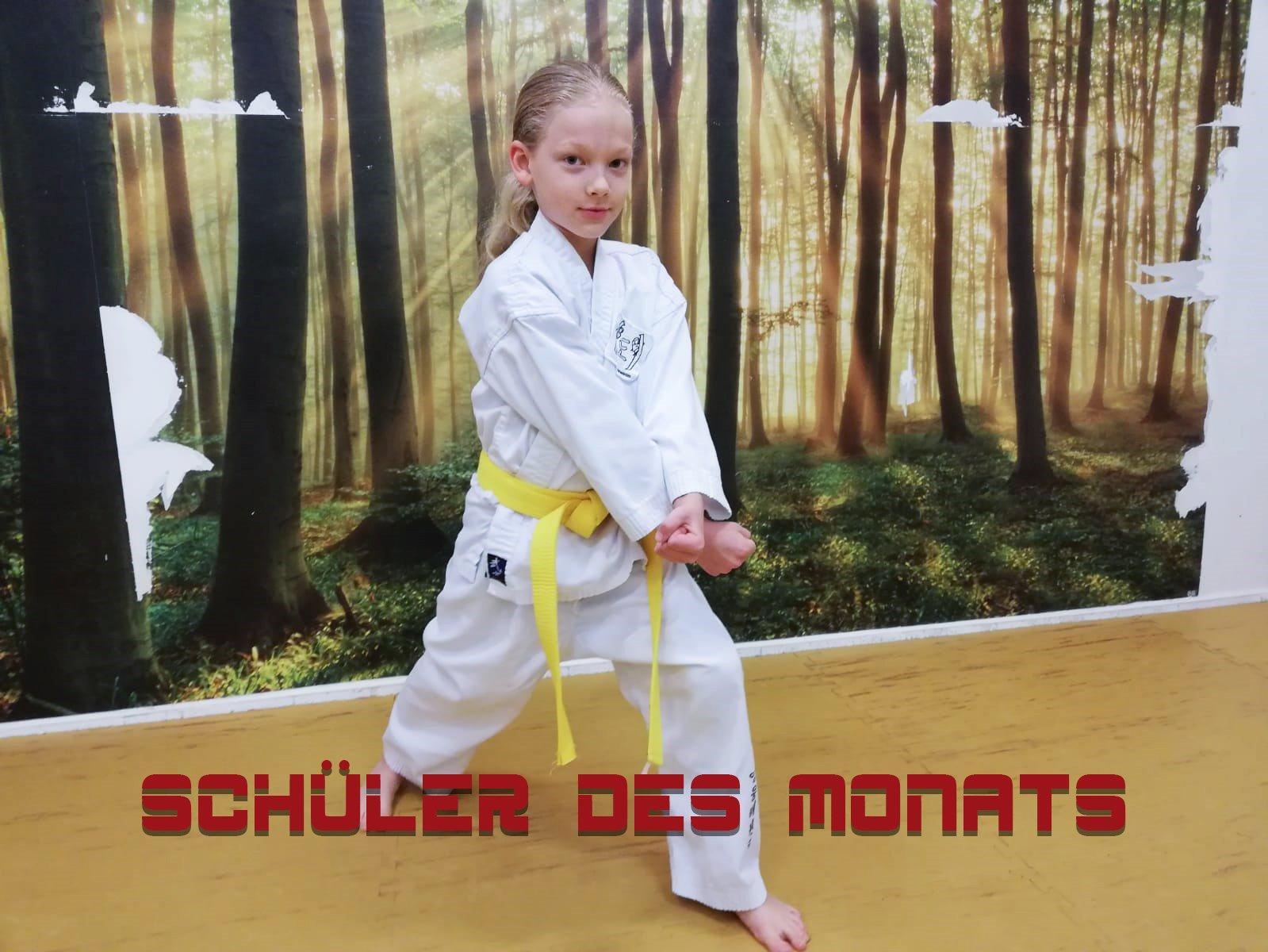 YOUNG-UNG Taekwondo Kampfsport Schüler des Monats Maximilian Schellner