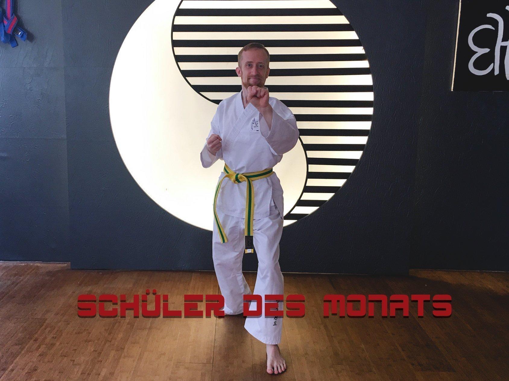 YOUNG-UNG Taekwondo Schüler des Monats Thomas Mitzka