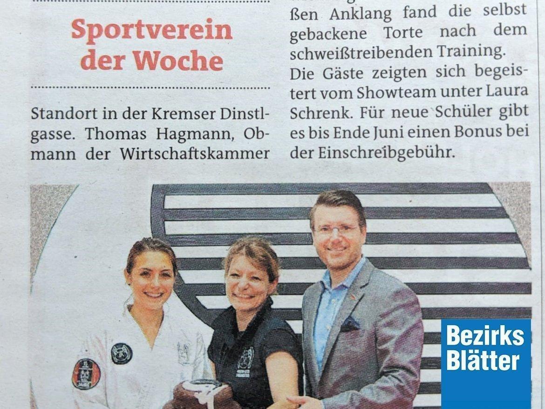 YOUNG-UNG Taekwondo Kampfsport Bezirksblätter Krems Neueröffnung Krems
