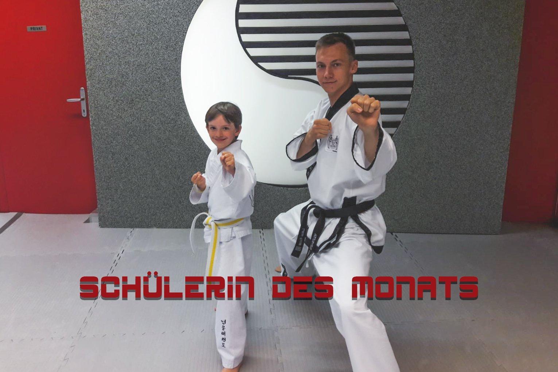 YOUNG-UNG Taekwondo Schülerin des Monats Emily Tabea Szabo