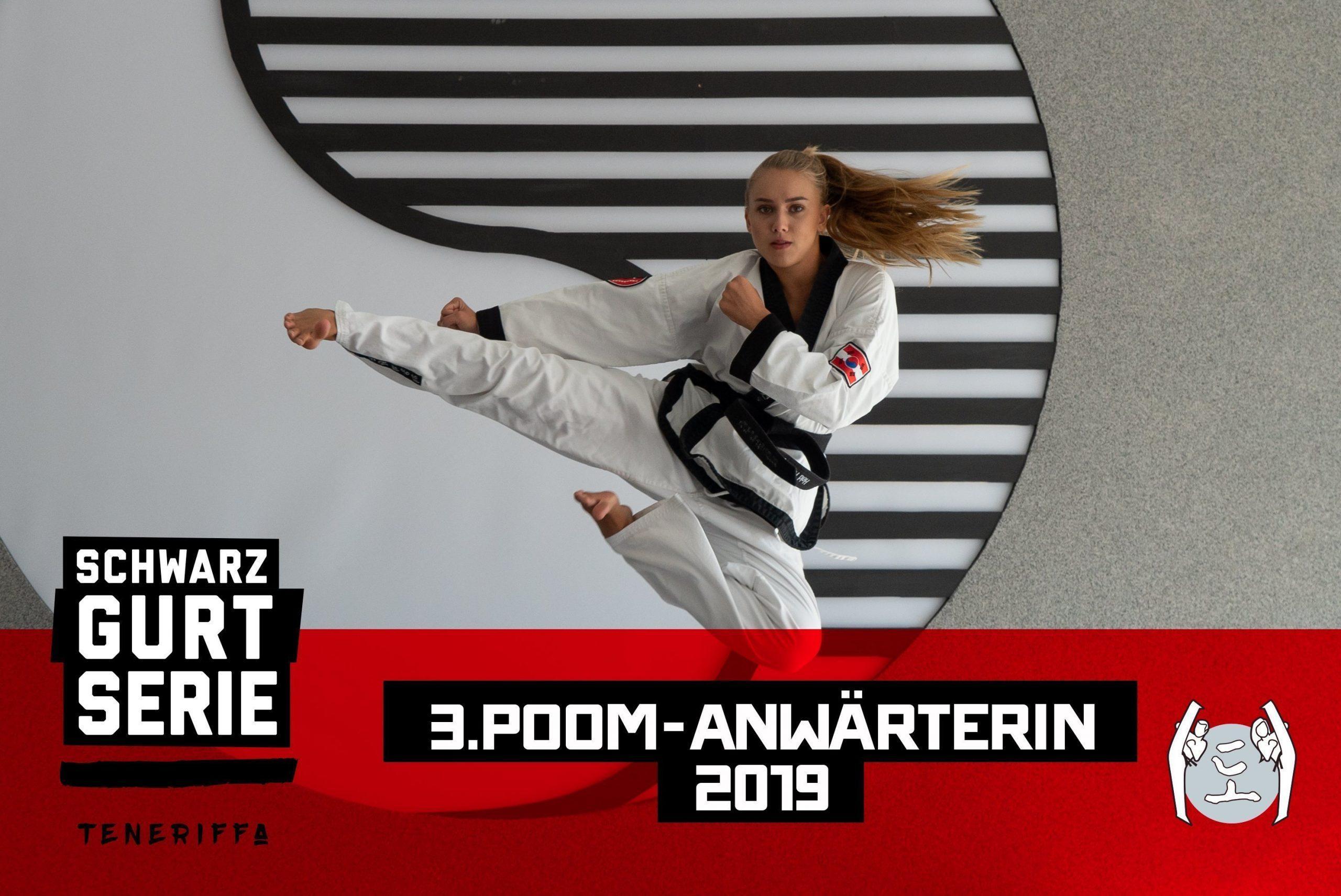 YOUNG-UNG Taekwondo Kampfsport Celine Held 3. POOM Anwärterin Teneriffa Training Camp
