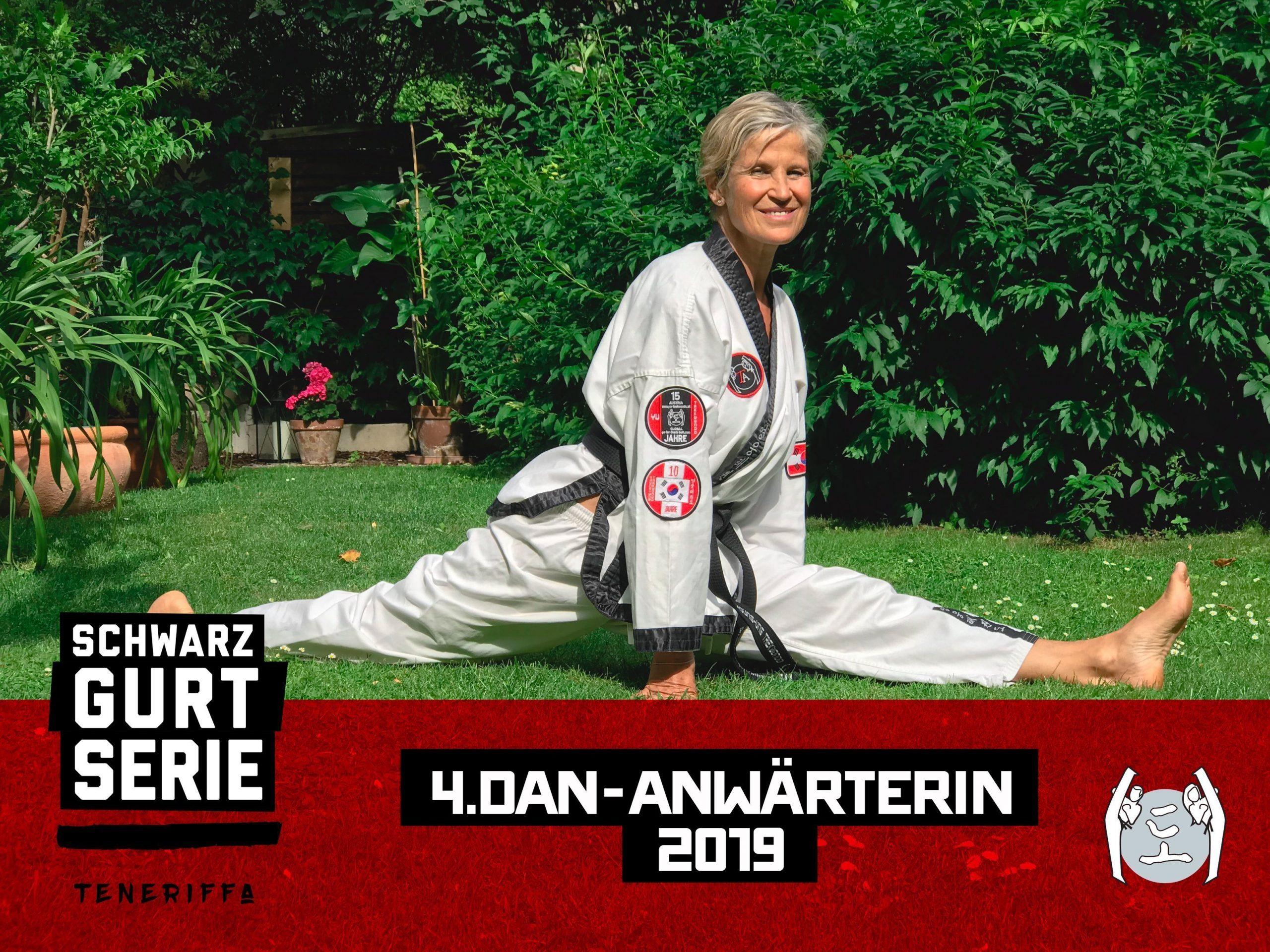 YOUNG-UNG Taekwondo Training Camp Teneriffa 4. DAN Anwärterin Katharina Lichtenberger