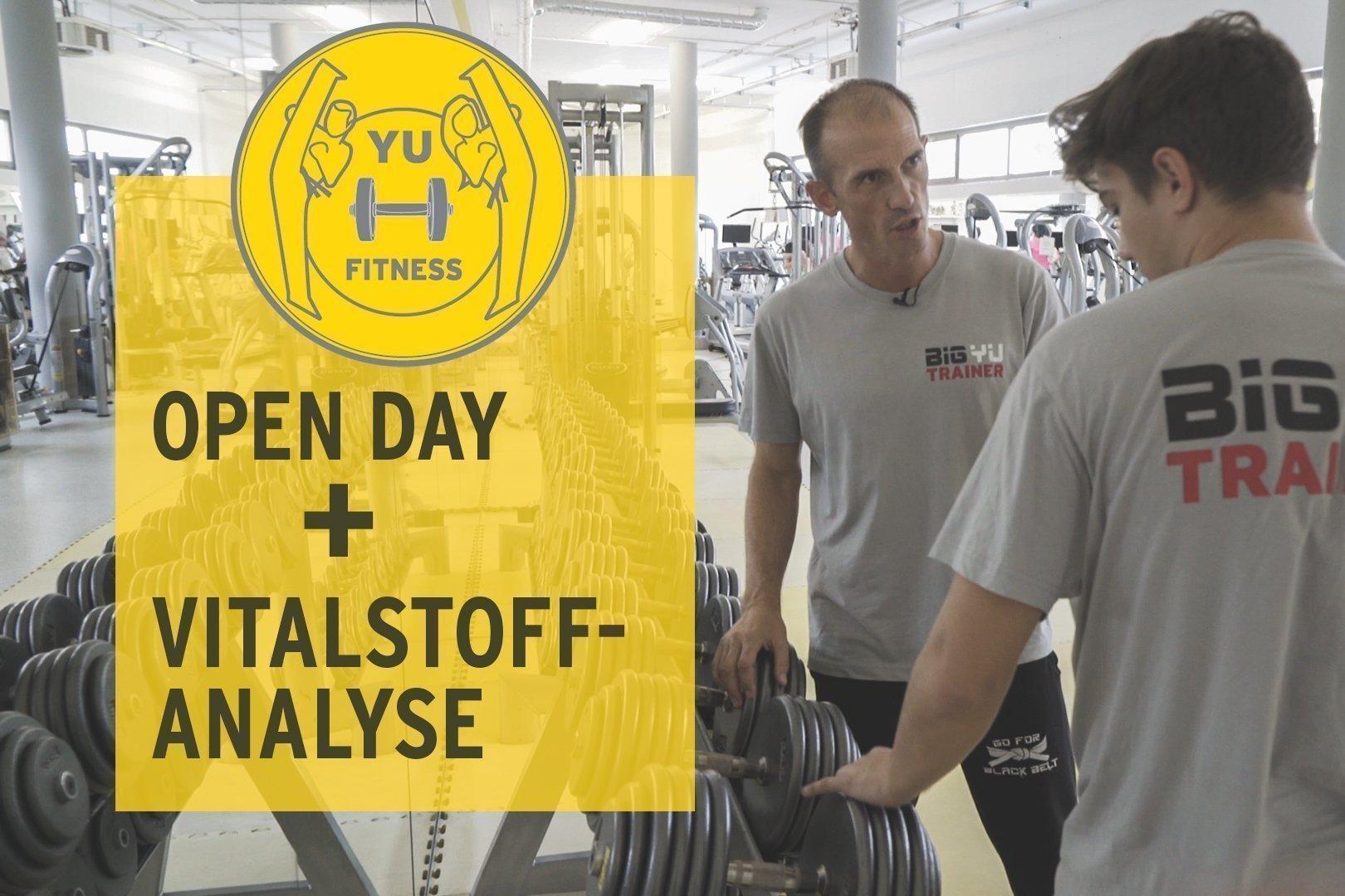Fitness BIG YU Tag der offenen Türe Vitalstoffanalyse