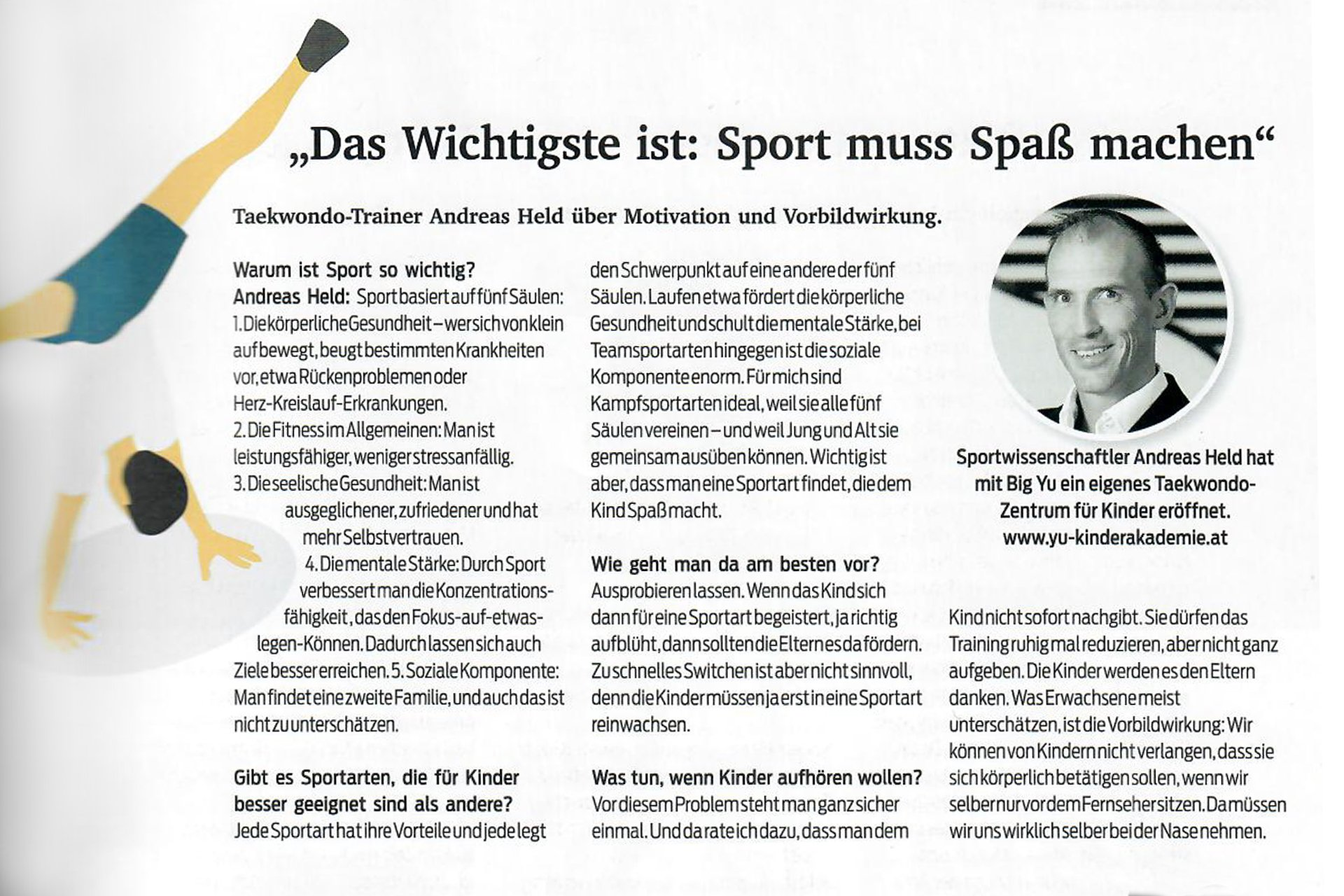 YOUNG-UNG Taekwondo Kurier Medico Interview Andreas Held Kampfsport