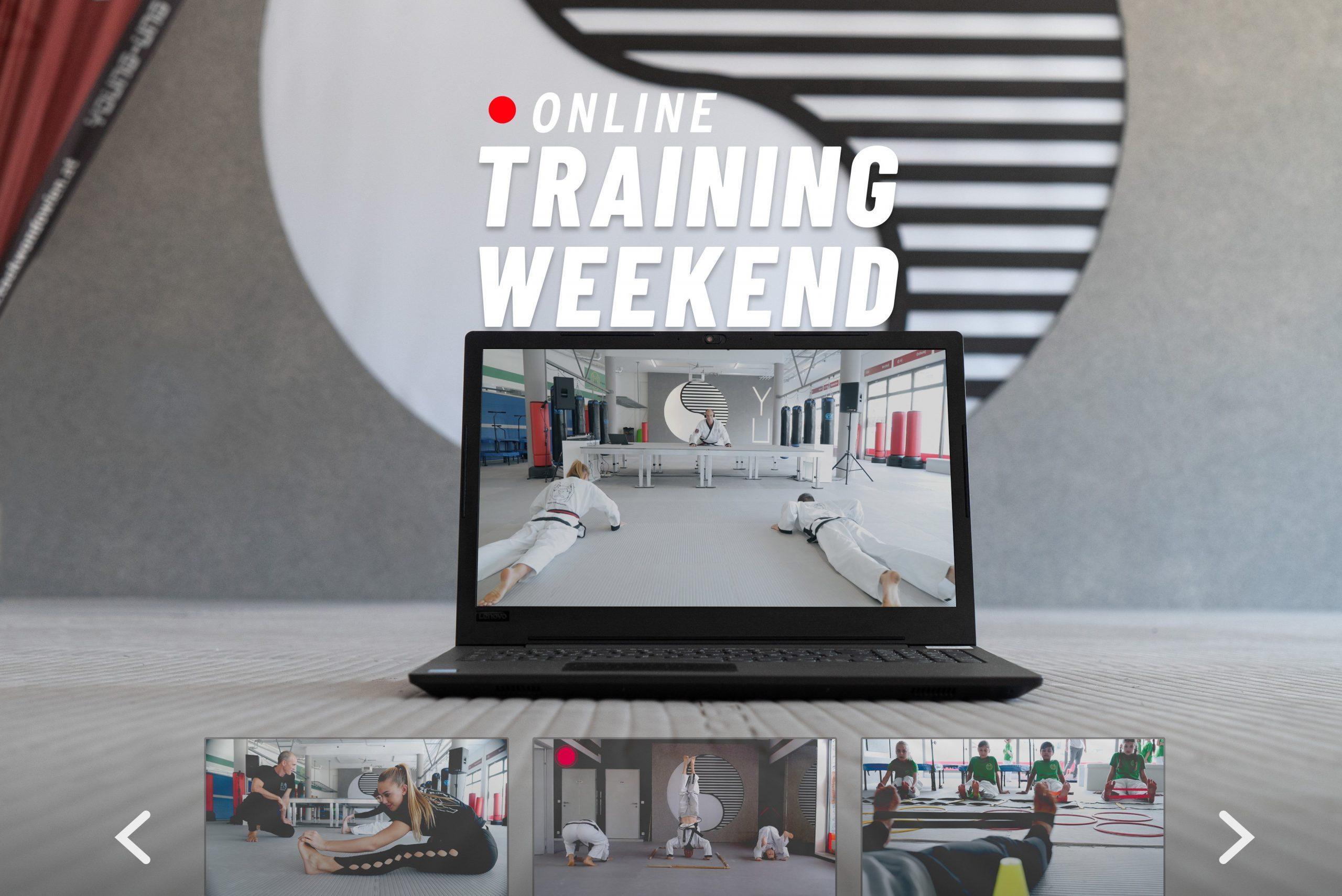 Online-Training Weekend am Laptop