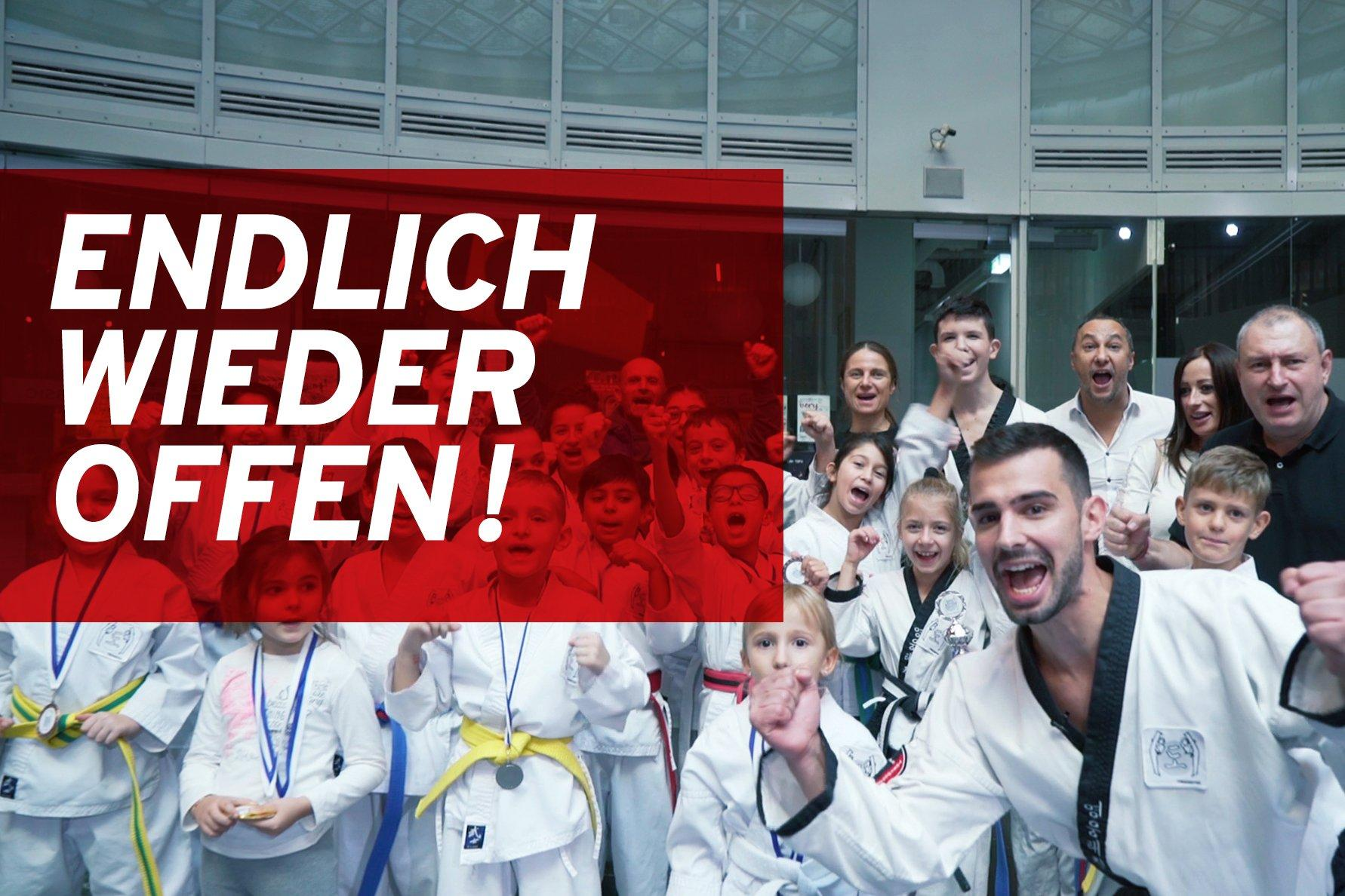 Taekwondo Gruppe freut sich