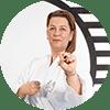 Portrait Foto unserer Taekwondo-Trainerin aus der Zweigstelle 1140 Wien