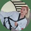 Portrait Foto unserer Taekwondo-Trainerin aus der Zweigstelle 1190 Wien