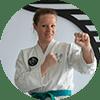 Portrait Foto unserer Taekwondo-Trainerin aus der Zweigstelle 3100 St. Pölten