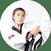 Portrait Foto unserer Taekwondo-Trainerin aus der Zweigstelle 3500 Krems